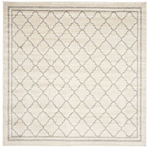 Safavieh Amherst Collection AMT422E Beige and Light Grey Indoor/ Outdoor Square Area Rug (5' Square)