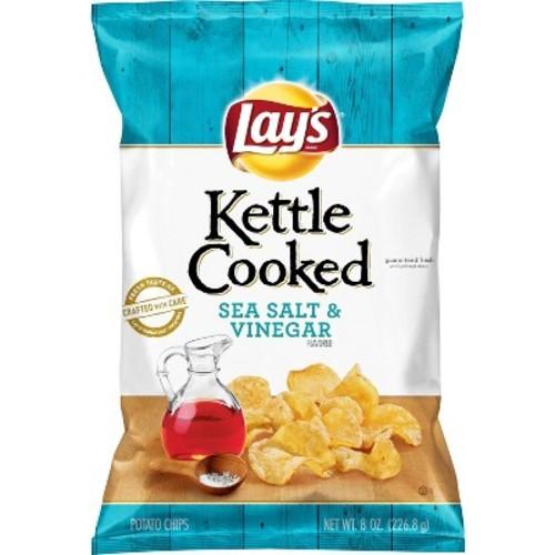 Lay's Kettle Cooked Salt & Vinegar Flavored Potato Chips - 8oz