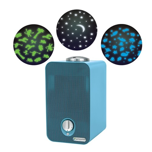 GermGuardian Blue 11-inch 4-in-1 Night-Night HEPA Air Purifier with UV Sanitizer, Odor Reduction and Projector - GermGuardian AC4150BLCA