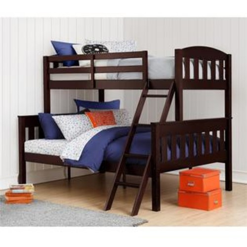 Dorel Living Airlie Twin over Full Bunk Bed in Espresso
