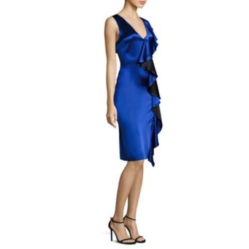 DIANE VON FURSTENBERG Side Ruffled Dress