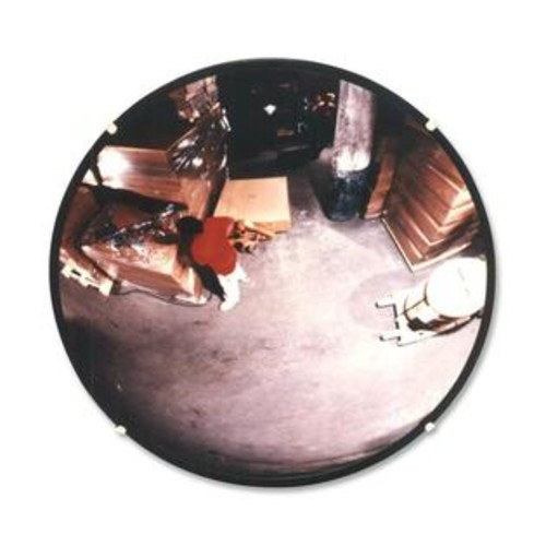 See-All Industries Round Glass Convex Mirror, 18