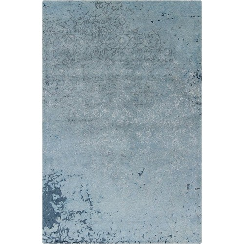 Rupec Collection Wool and Viscose Area Rug in Grey and Blue design by Chandra rugs - 5' x 7' 6\