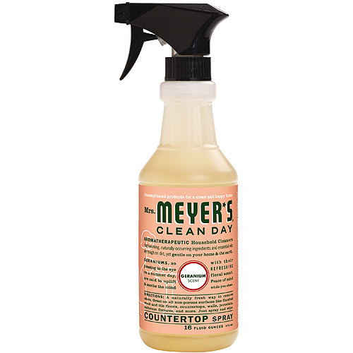 Mrs. Meyer's Clean Day Multi-Surface Everday Cleaner, Geranium, 16 Fluid Ounce [Geranium]
