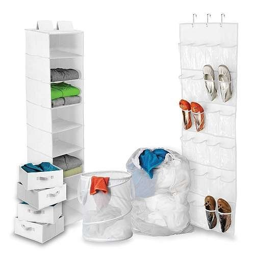 Honey-Can-Do BTS-01586 Back To School Home Organization Kit, White [White]