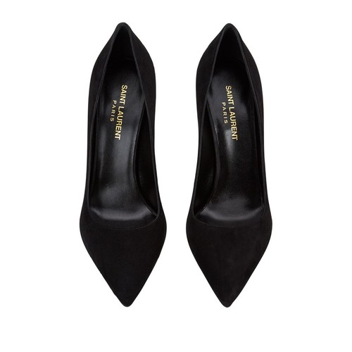SAINT LAURENT Paris Skinny Suede Pump