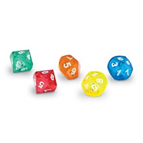 Learning Resources 10-Sided Dice In Dice, Set of 72