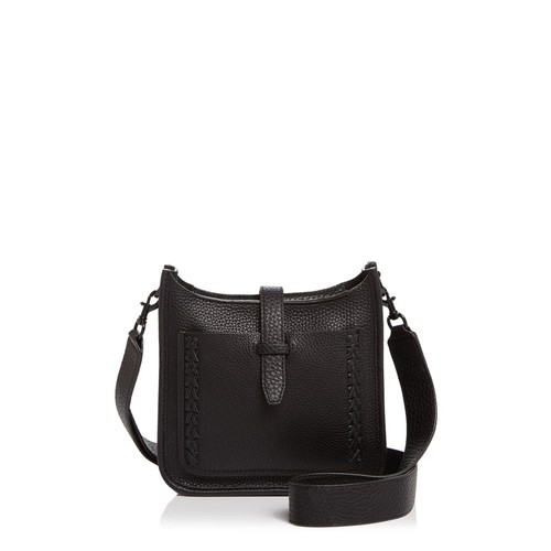 Unlined Whipstitch Feed Mini Pebbled Leather Crossbody