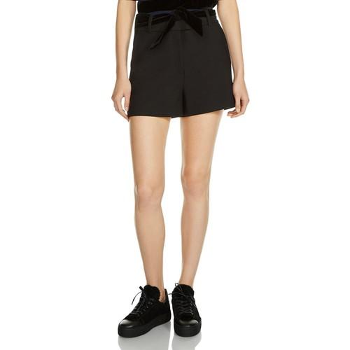 MAJE Paris Belted Shorts