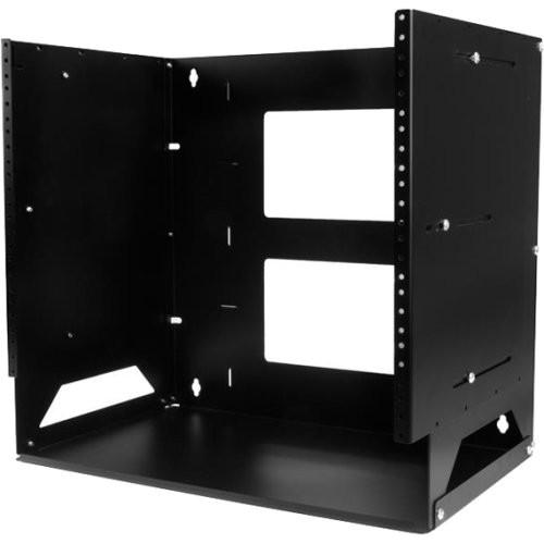 StarTech.com 8U Wall-Mount Server Rack with Built-in Shelf - Solid St