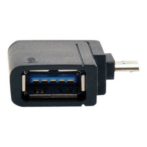 Tripp Lite U053-000-OTG 2-in-1 Micro-USB B/USB A Male/Female OTG Adapter, Black
