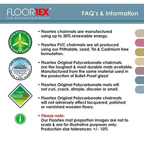 Floortex Ultimat Polycarbonate XXL Chair Mat for Hard Floors, 79