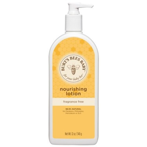 Burt's Bees Baby Nourishing Lotion, Fragrance Free, 12 oz
