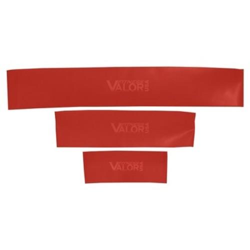 Valor Fitness TLR-SET Thin Loop Red Medium Resistance Bands Set