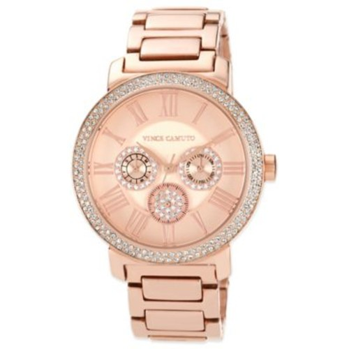 Vince Camuto Ladies' 42mm Crystal-Accented Chronograph Watch in Rose Goldtone Stainless Steel