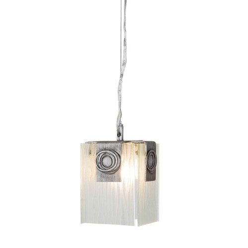Varaluz Polar 1-light Blackened Silver Mini Pendant