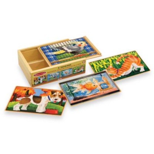 Melissa & Doug Pets Jigsaw Puzzles In A Box (Set of 4 Puzzles)