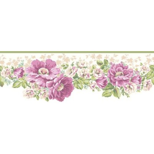 Inspired By Color Borders Victorian Garden Border, White With Off White