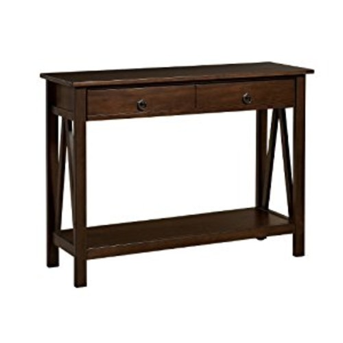 Linon Home Decor Titian Antique Console Table [Antique Tobacco]