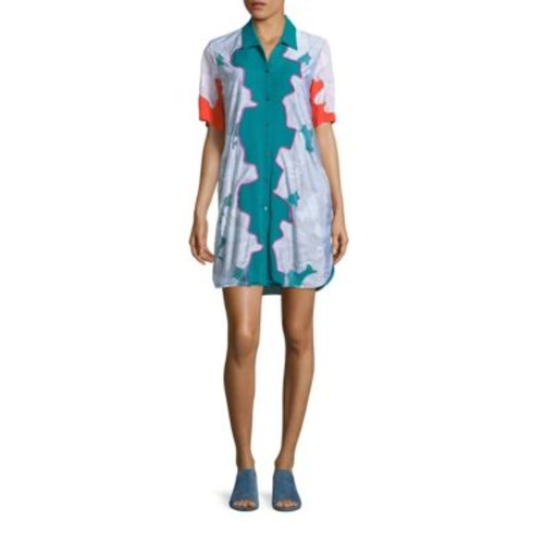 3.1 PHILLIP LIM Surf Silk Floral Shirt Dress