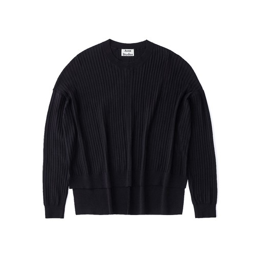 ACNE STUDIOS Black Issy Rib Knit Sweater