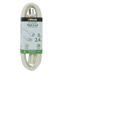 8-ft. Outdoor Extension Cord - White