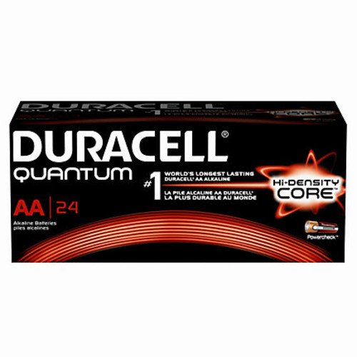 Duracell Quantum AA Alkaline Batteries, Pack Of 24