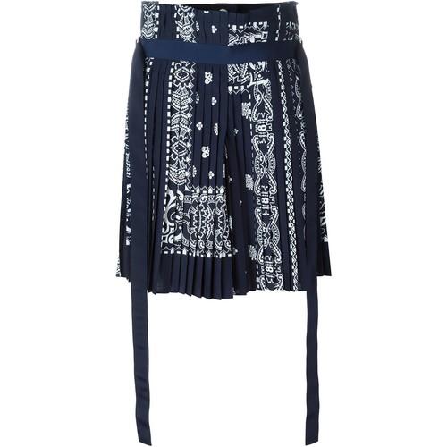 SACAI Bandana Print Pleated Skirt