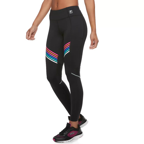 Women's FILA SPORT Mesh Striped Leggings