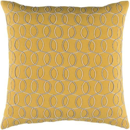 Solid Bold II Pillow in Bright Yellow & Cream design by Bobby Berk - 13\
