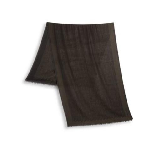 ERMENEGILDO ZEGNA Wool Herringbone Printed Scarf