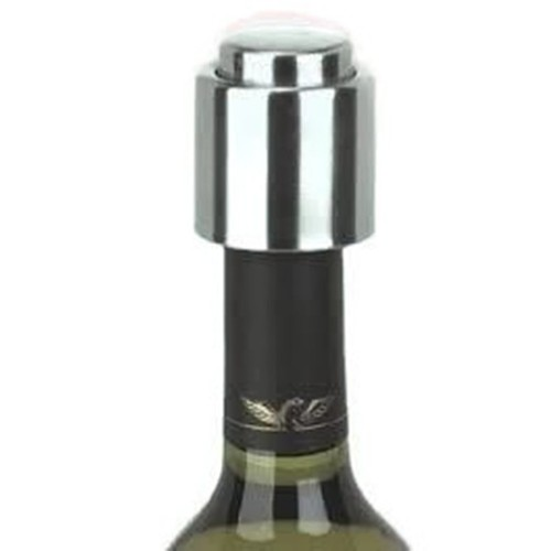 Elegance Brushed Stainless Steel Wine Stopper