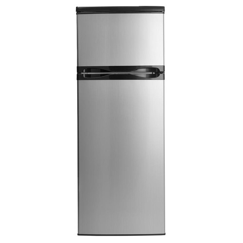 Danby Designer 7.3 cu. ft. Apartment Size Top Freezer Refrigerator in Black and Stainless Steel
