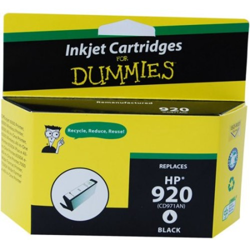 Ink For Dummies HP 920 (CD971AN) Black, Remanufactured Inkjet Cartridge