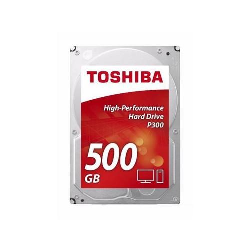 Toshiba P300 500GB Desktop PC Internal Hard Drive 7200 RPM SATA 6Gb/s 64 MB Cache 3.5 inch - HDWD105UZSVA (BULK)