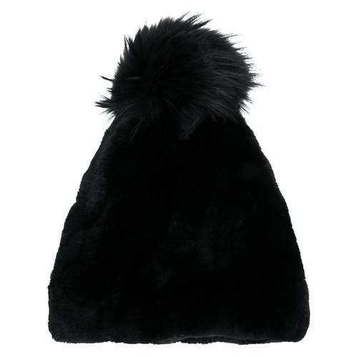 fur pompom beanie hat
