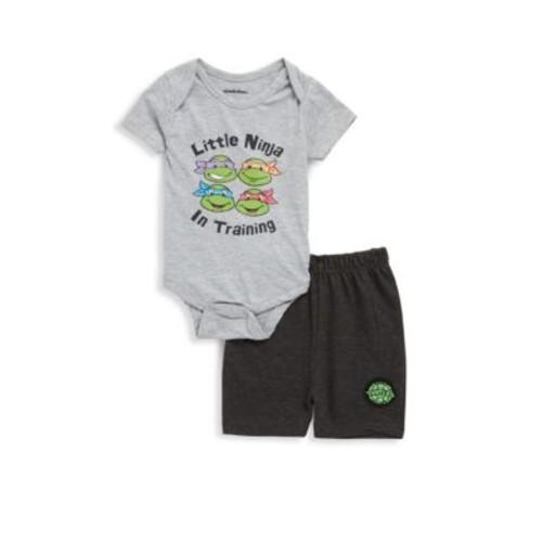 Nickelodeon - Baby's Two-Piece Ninja Turtles Bodysuit & Shorts Set