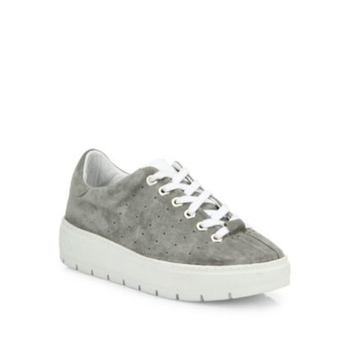 RAG & BONE Linden Perforated Suede Platform Sneakers