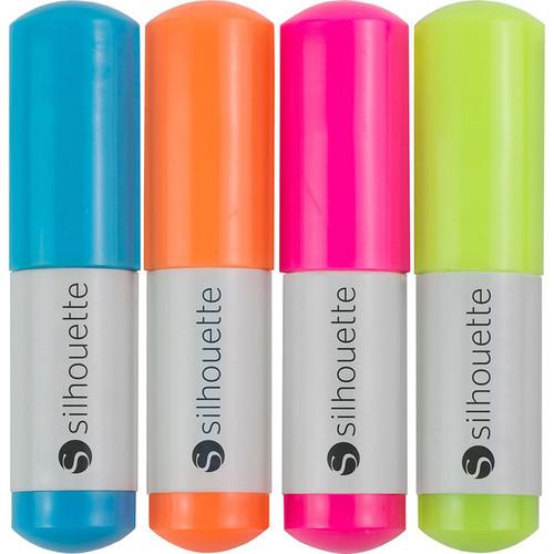 Silhouette Sketch Pens 4/Pkg-Neon: Pink, Green, Orange, Blue - Neon: Pink, Green, Orange, Blue