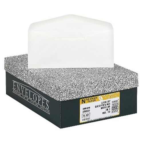 Neenah Paper Classic Crest #10 Envelope, Traditional, Natural White, 500/Box