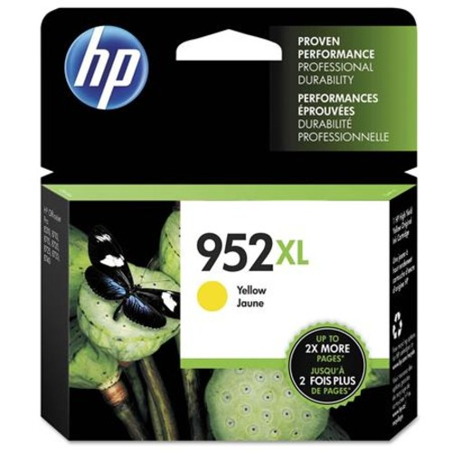 HP 952XL Yellow High Yield Original Ink Cartridge, 2000 Pages Yield