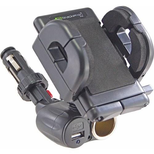 Bracketron Universal USB Power Dock Grip-iT Mount [Universal Holder w/USB Port & Socket]