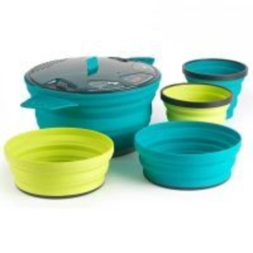 Sea to Summit X-SET 31- X Pot 2.8L - 2 X Bowls - 2 X Mugs 584-32, Application: Cooking, Packed Size: 8.4 in (diameter) x 1 in (depth),  Free Two Day Shipping