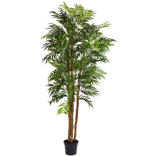 Nearly Natural 6 ft. Green Bella Palm Silk Tree