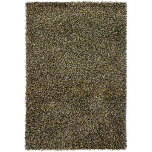 Chandra Astrid Yellow/Brown/Green/Blue/Ivory 9 ft. x 13 ft. Indoor Area Rug
