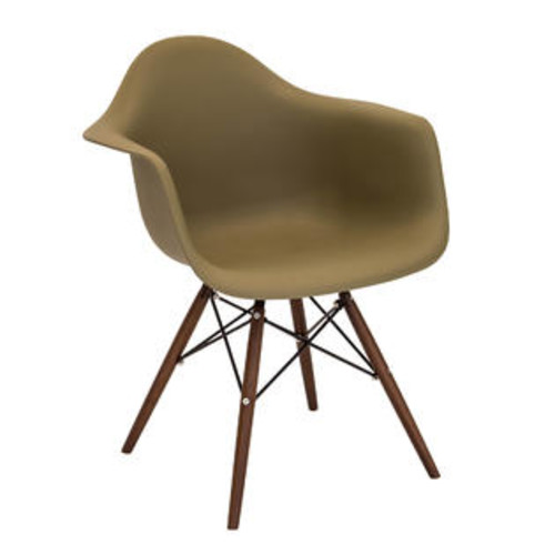 Lumisource Neo Flair Mid-Century Modern Chairs in Olive and Espresso by LumiSource - Set of 2