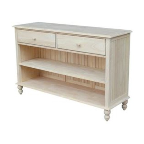 International Concepts Cottage Unfinished Console Table