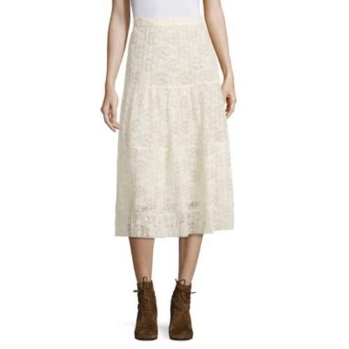 SEE BY CHLOÉ Plissé Lace Midi Skirt