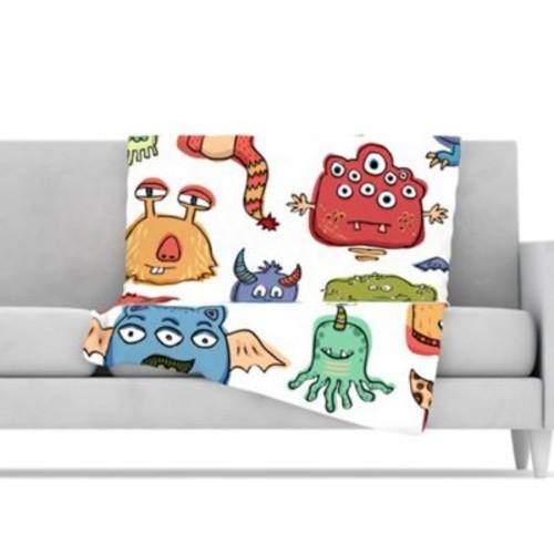 KESS InHouse Little Monsters Throw Blanket; 80'' L x 60'' W