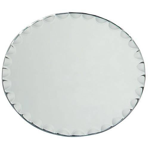 Round Glass Mirror W/Scallop Edge Bulk8in